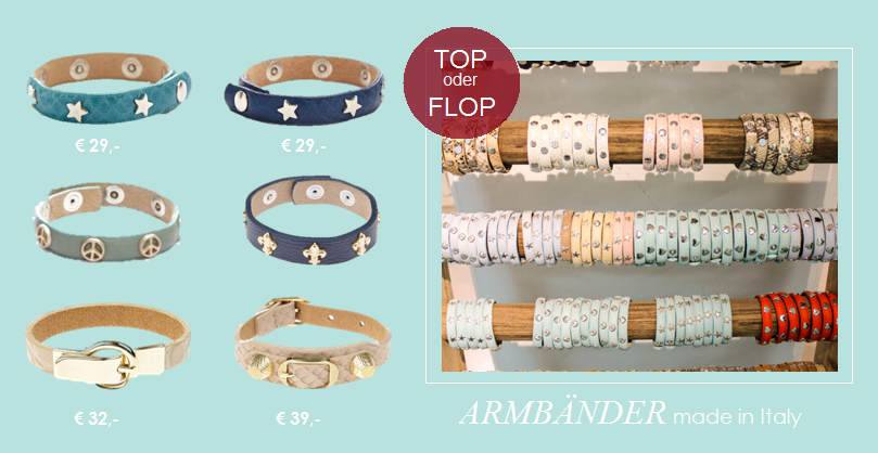 NEU: Armbänder made in Italy