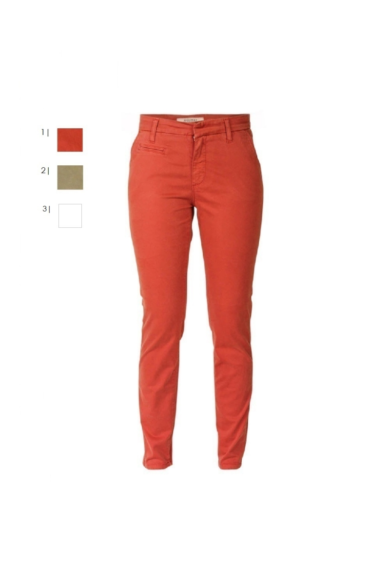 Chino Holiday, orange + khaki